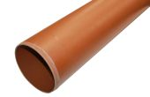 160mm Plain Ended Underground Pipe