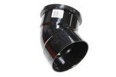 110mm x 135 Deg Top Offset Bend (black floplast)