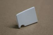 85mm White End Cap (pair)