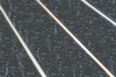 2.7 Mt Black Gloss Marble (T & G Joint/Recessed Silver Strip)