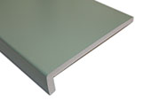 2 x 250mm Capping Fascias (Chartwell Green woodgrain)