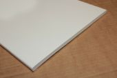 1 x 400mm Flat Soffit (Cream Woodgrain)