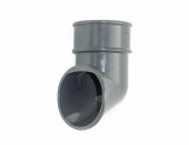 Graphite Grey 68mm Round Pipe Shoe