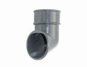 Graphite Grey 68mm Round Pipe Shoe