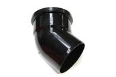110mm x 135 Deg Single Socket Bend (black floplast)