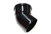 110mm x 135 Deg Single Socket Bend (black floplast)
