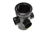 110mm Single Socket Boss Pipe (black floplast)