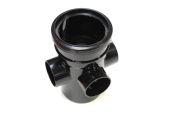 110mm Single Socket Boss Pipe (black floplast)