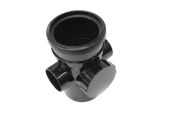 110mm Single Socket Access Pipe (black floplast)