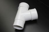 White 68mm Round Pipe Branch (floplast)