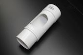 White 68mm Round Access Pipe (floplast)