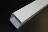 White 65mm Square Floplast Pipe (2.5 metre)