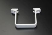 White Square Flush Pipe Clip (floplast)