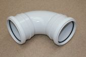110mm x 92.5 Deg Double Socket Bend (white floplast)