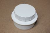 110mm x Screwed Access Cap (white floplast)