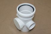 110mm Single Socket Access Pipe (white floplast)