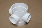 110mm Short Boss Pipe (white floplast)
