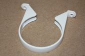 110mm Plastic Saddle Pipe Clip (white floplast)
