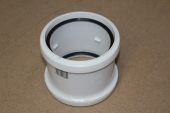 110mm Double Socket Connector (white floplast)
