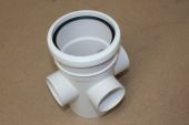 110mm Single Socket Boss Pipe (white floplast)