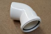 110mm x 112 Deg Single Socket Bend (white floplast)