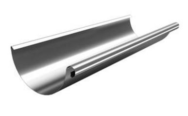 Galv 125mm Half Round 'Roof Art' Gutter (3 metre length)