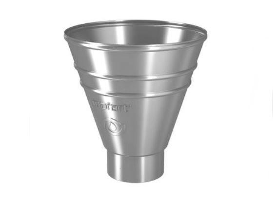 Galv Round Pipe Hopper (87mm spigot)