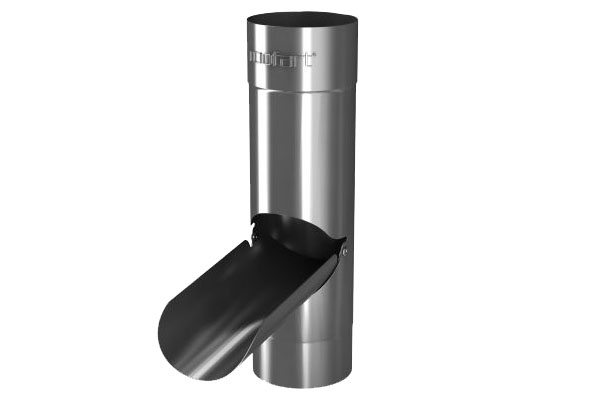 Galv 87mm Round Rainwater Diverter