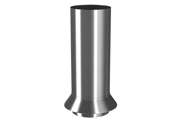 Galv 87mm Round Drainage Connector