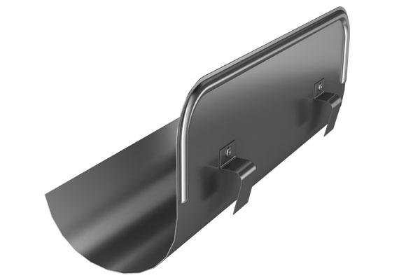Galv 125mm Half Round Straight Overflow Protector