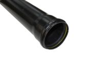 4 Metre x 110mm Single Socket Pipe (black)
