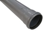 4 Metre x 110mm Single Socket Pipe (grey)