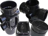 110mm Polypipe Solvent Soil Range in Black