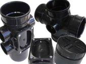 110mm Polypipe Solvent Soil Range in Black