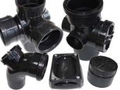 82mm Polypipe Pushfit Soil Range in Black