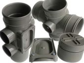 82mm Polypipe Solvent Soil Range in Grey