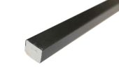25mm x 20mm Rectangle (black woodgrain)