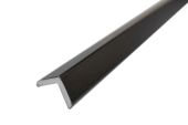 25mm x 25mm Foam Angle (black woodgrain)