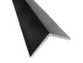 100mm x 80mm Hollow Angle (black woodgrain)