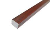 25mm x 20mm Rectangle (mahogany)