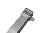 1 Metre Length of 76mm Square Downpipe (mill)