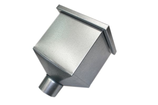 Galv Square Pipe Hopper (87mm spigot)