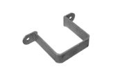 76mm Square Flush Pipe Clip (mill)