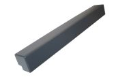 500mm External Fascia Corner (Anthracite Grey 7016 Woodgrain)