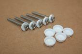 30mm White Plastic Capped Screws (box 100)