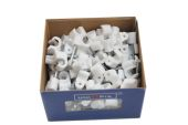 100 x 6mm Cable Clips (white)