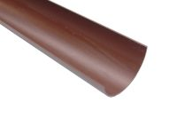 4 Metre Gutter (rustic brown crescent)