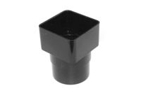 Square to Round Adaptor (black)
