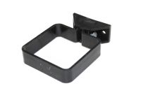 Square Pipe Clip Complete (black)