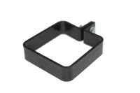 Square Plastic Clip, Nut & Bolt (black)